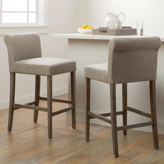 Cosmopolitan Beige Linen Counter Stools (Set of 2)