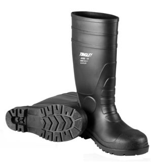 Men's Black Economy Steel Toe Knee-high Rain Boots