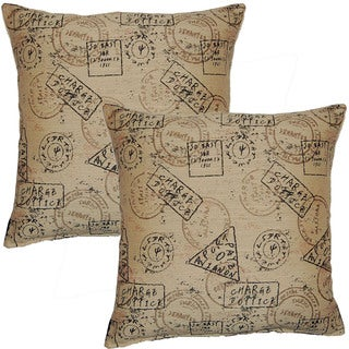 Passport Khaki 17-in Throw Pillows (Set of 2)
