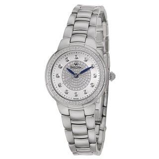 Bulova Women's 96R168 'Rosedale' Stainless Steel Quartz Watch