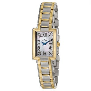 Bulova Women's 98L157 'Fairlawn' Two-Tone Stainless Steel Japanese Quartz Watch