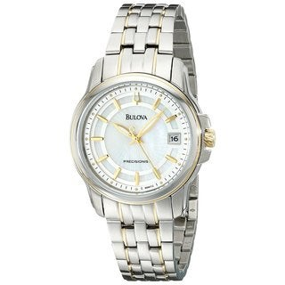 Bulova Women's 98M112 'Precisionist Langford' Yellow Gold-Plated Stainless Steel Watch