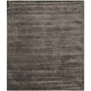 Safavieh Hand-loomed Mirage Charcoal Viscose Rug (9' x 12')