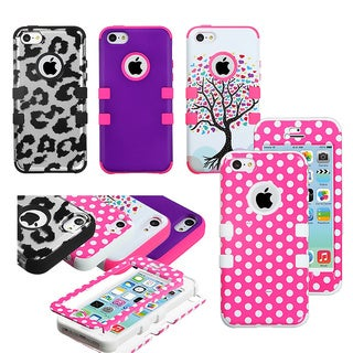 INSTEN Design Colorful Rugged Dual High Impact Layered Protective TUFF Hybrid Phone Case Cover for Apple iPhone 5C