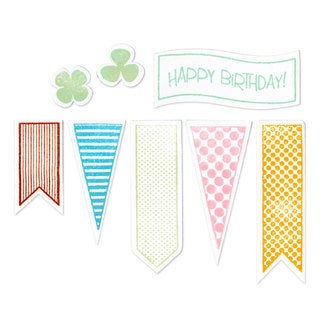 Sizzix Framelits Banners #2 Die Set with Stamps (8 Pack)