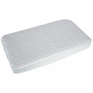 Summer Infant Quilted Fitted White Crib Mattress Pad