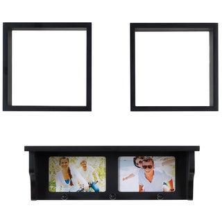 Melannco Black 3-piece Shelf Set