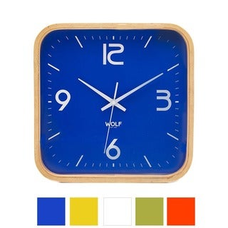 WOLF Moderne 12-inch Square Wall Clock