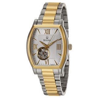 Bulova Men's 98A131 'BVA Series' Stainless Steel and Yellow Gold-Plated Japanese Mechanical Automatic Watch