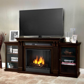 Real Flame 'Ashley' Dark Walnut Gel Fireplace Entertainment Center