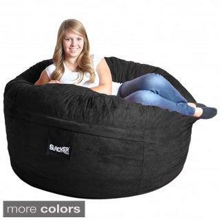 Slacker Sack 5-foot Round Microfiber Suede Large Memory Foam Bean Bag Chair Cover