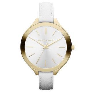 Michael Kors Women's MK2273 Slim Runaway White Leather Watch