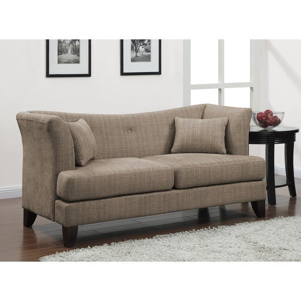 modern twine curved arm sofa overstock shopping great deals on sofas loveseats