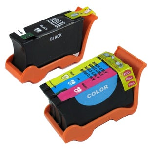 Dell Series 21 (Y498D / Y499D) Black and Color Compatible Ink Cartridge Set (Remanufactured) (Pack of 2)