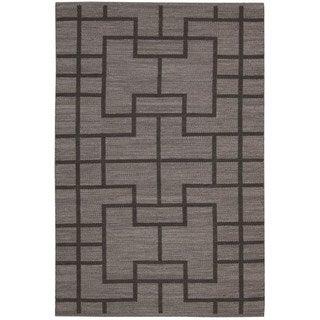 Barclay Butera by Nourison Maze Slate Flatweave Rug (7'9 x 10'10)