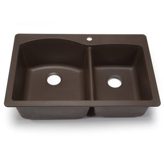 Blanco Silgranit Diamond Cafe Brown 1-3/4 Dual Mount Double Bowl Kitchen Sink