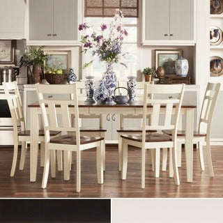 TRIBECCA HOME Eli Rustic Black Cherry 7-piece Mission Extending Dining Set