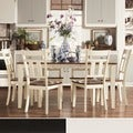 TRIBECCA HOME Eli Rustic Two-tone Mission Extending Dining Set