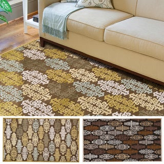 Hand-woven Damask Fremont Abstract Area Rug (8'8 x 12')