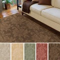Hand-loomed Tone-on-Tone Otero Floral Wool Area Rug (8' x 10')