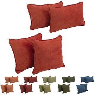 Blazing Needles Microsuede Throw Pillows (Set of 4)