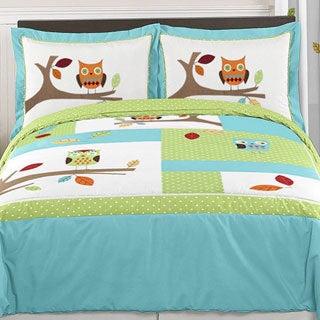 Sweet Jojo Designs 'Hooty Owl' 3-piece Full/Queen Comforter Set