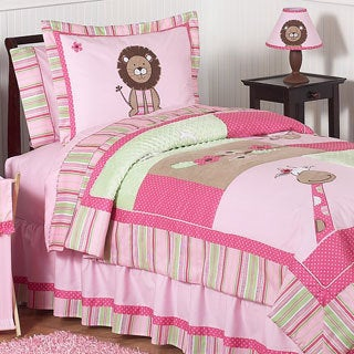 Sweet Jojo Designs Girls 'Jungle' 4-piece Twin Comforter Set