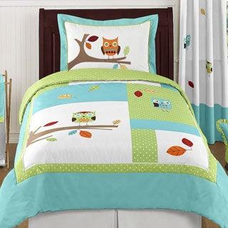Sweet Jojo Designs Unisex 4-piece Hooty Owl Twin Comforter Set