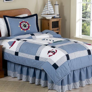 Sweet Jojo Designs Boys 4-piece Nautical Twin Comforter Set