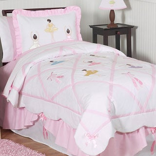 Sweet Jojo Designs Girls 4-piece Ballet Dancer Twin Comforter Set