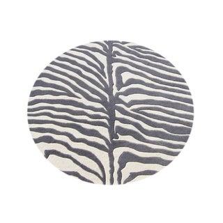 Alliyah Handmade Grey New Zealand Blend Wool Rug (10x10 R)