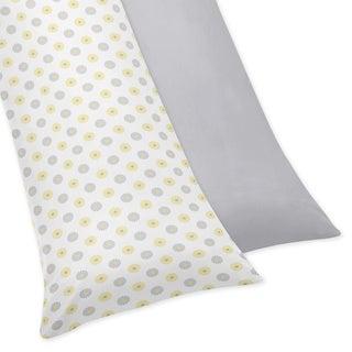 Sweet JoJo Designs Mod Garden Full Length Double Zippered Body Pillowcase Cover