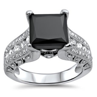 Noori 18k Gold 2 4/5ct TDW Certified Black Diamond Engagement Ring (E, VS1-VS2)