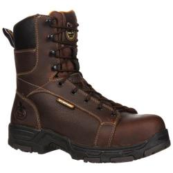 Men's Georgia Boot GBOT062 8in Diamond Trax Brown Full Grain Leather