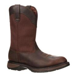 Men's Durango Boot DWDB042 12in Western Steel Toe Workin' Rebel Brown Full Grain Leather