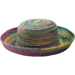 Women's San Diego Hat Company Crocheted Raffia Hat RHL10 Mixed Pastels