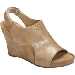 Women's A2 by Aerosoles Cloud Plush Nude Faux Leather