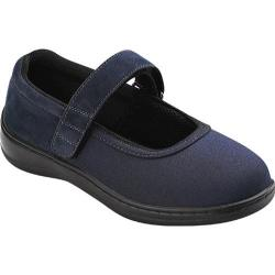 Women's Orthofeet Springfield Navy Blue Synthetic Stretch