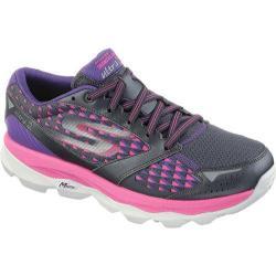 Women's Skechers GOrun Ultra 2 Charcoal/Hot Pink