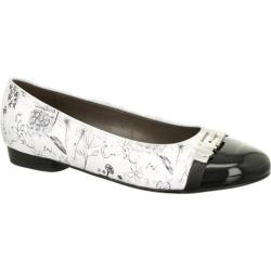 Women's ara Perla 53374 White Patent Drawing/Black Patent