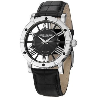 Stuhrling Original Men's Winchester Advanced Swiss Quartz Leather Strap Watch