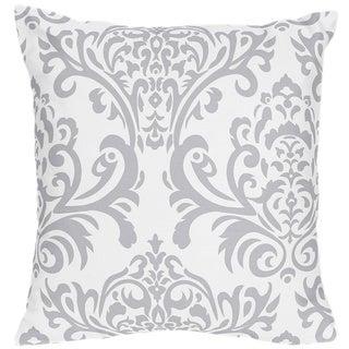 Sweet Jojo Designs Avery Grey/Blue Damask Print Decorative Throw Pillow