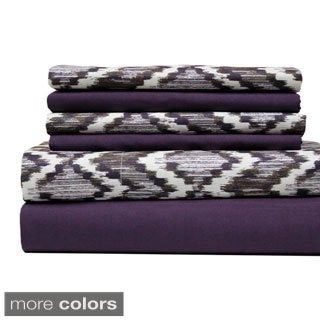 Texture Printed and Solid 6-piece Sheet Set