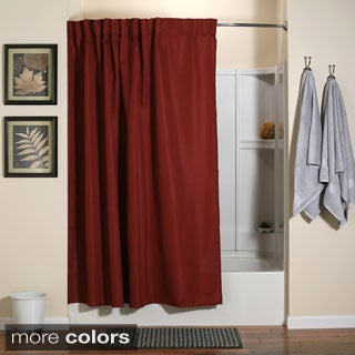 Aulaea Infinity Collection of Shower Curtains with Integrated Hooks