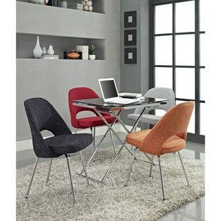 Cordelia Red Tweed Side Chair