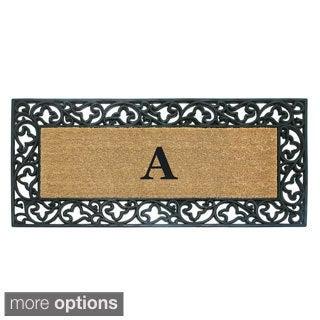 Wrought Iron Monogrammed Rubber/ Coir Door Mat (2' x 4'9)