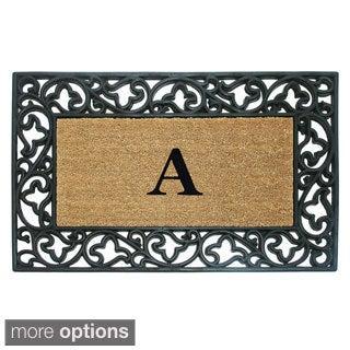 Wrought Iron Monogrammed Rubber / Coir Doormat