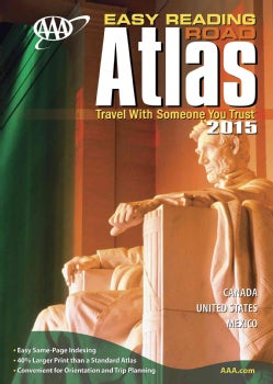 AAA Easy Reading Road Atlas 2015 (Paperback)