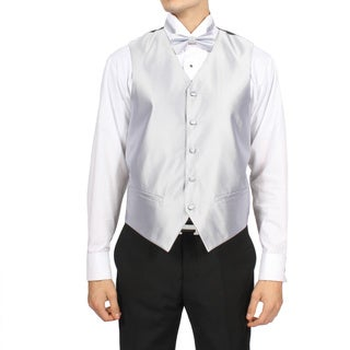 Ferrecci Men's Silver 4-piece Vest Set