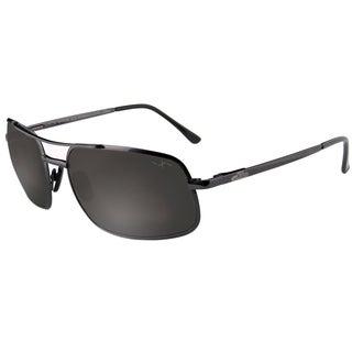Xezo Men's 'Air Commando' Grey Metallic Titanium Polarized Sunglasses